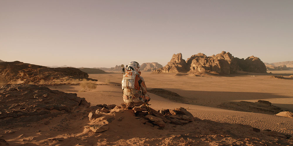 The Martian, screen from the movie